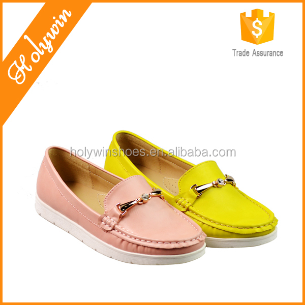 Casual loafer moccasin,ladies beautiful fashion craft shoe