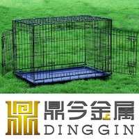 Pet Kennel with ABS Plastic Pan