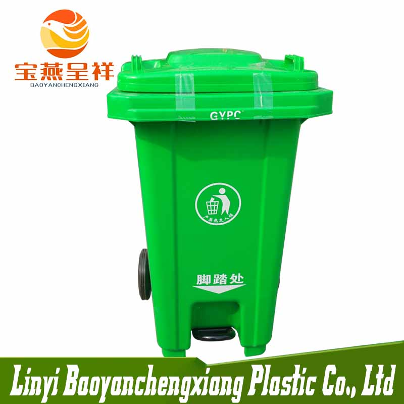 2 Wheeled 100L outdoor Waste Bin Waste Bin with <strong>Wheels</strong>