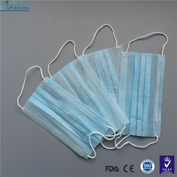3ply 18+25+18g Nonwoven mouth cover face mask non woven material disposable type face mask filter material