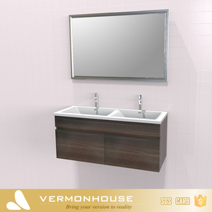 2018 Hangzhou Vermont Stylish Top Quality Wooden Classic Bathroom Cabinets Furniture