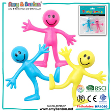Custom smile face designs bendable man toy figures with wire