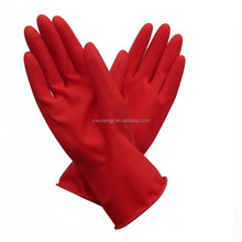 Extra long pratical household latex gloves/Yellow household cleaning gloves