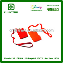 Novelty non-woven bag with lanyard mobile phone holder lanyard