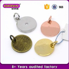 Custom design metal stamping jewelry blanks charms for sale