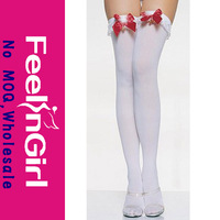 New Style White stockings With Red Bow