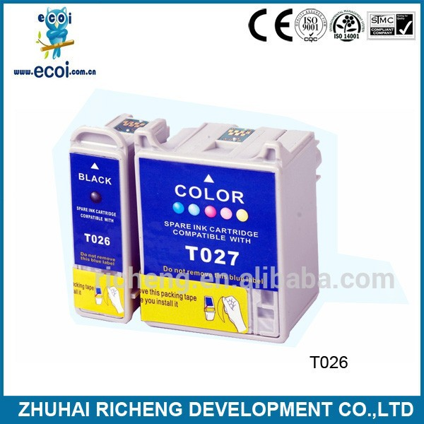 compatible ink cartridge t026 t027 for Stylus Photo 810,820,830,830U,925,935