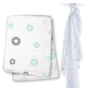 100% organic cotton baby muslin swaddle wrap blanket