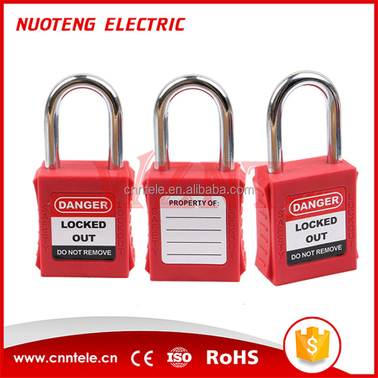 38mm Shackle lockout,safety padlock,alarm lock
