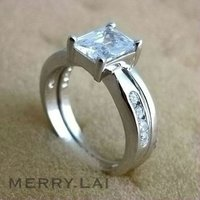 Fashion wholesale jewelry stainless steel diamond cut rings jewelry ( ML-12-MA0907-05)