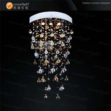 Modern Restaurant LED Crystal Ceiling Light Lobby Pendant Lamp Chandelier distributor boxes OM9157