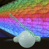 Similar led vision curtain 3d effect rgb full color disco decorative 50mm led ball
