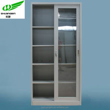 High standard 2 sliding doors file cabinet/lab used glass cupboard,furniture office furniture