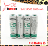 High quality with competitive price for Saft LS14500 3.6V Size AA Lithium Battery--2pcs