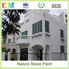 Durable and low cost chemicals resistant uv proof paint natural stone effect texture exterior wall paint