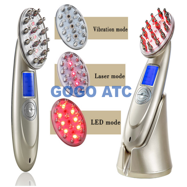 OEM USB additive liquid led comb/ electric comb for hair growth/ laser hair regrowth comb