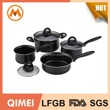 7pcs eco-friendly non stick coating carbon steel cookware