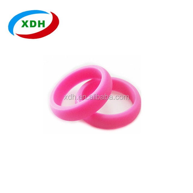 Happy Christmas Simple Wedding Ring Silicone Engagement Ring