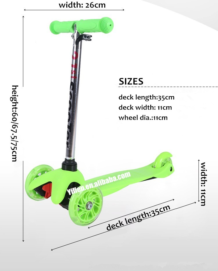 High quality EN71 approved kids 3 wheel scooter original factory