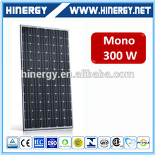 CE approved high efficiency 300wp monocrystalline residential solar hot water panels 300 watt mexico commercial use