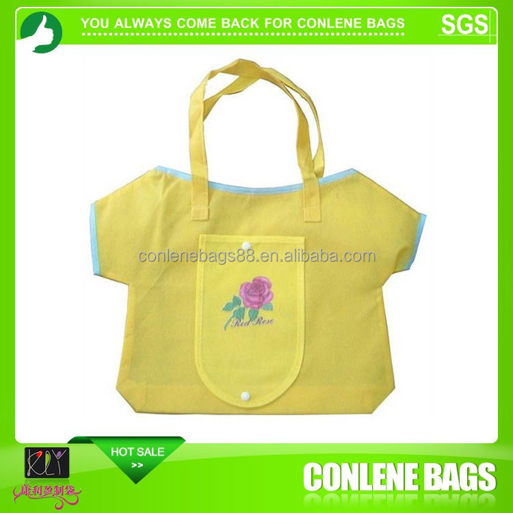 Nice design cheap nylon foldable shopping bag 555