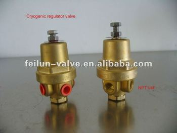 DYZ-06 Brass Cryogenic Regulator Valve usage for Dewar tank
