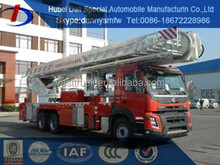 hot Aerial Fire Truck long ladder rescue fire fighting truck for sale