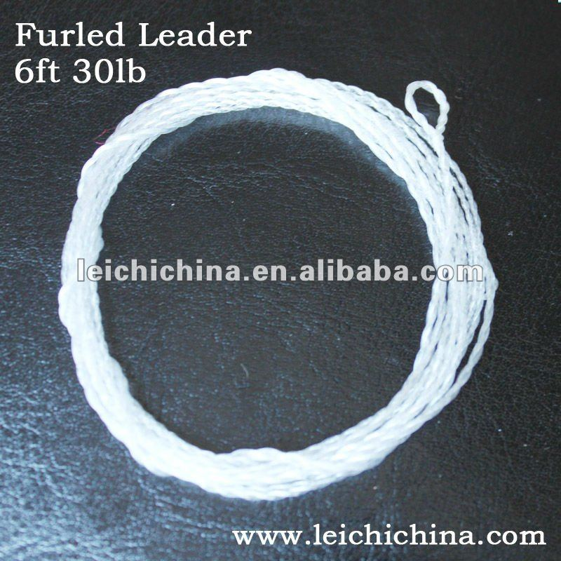 Hand-made nylon Furled Leader