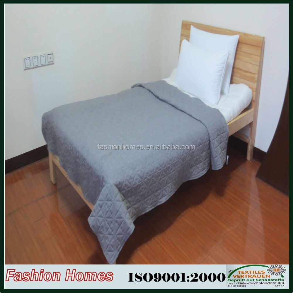 High quality solid color thin stone-washed bedspread