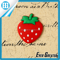 3d soft pvc fridge magnet,wholesale promotional strawberry fruit fridge magnet china