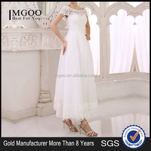 MGOO 2015 OEM Services Dress Factory White Lace Evening Dress White Bridesmaid Dress For Wedding Free Prom Dress