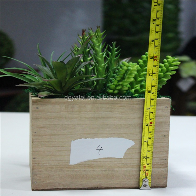 wholesale artificiail potted succulent for table/window decor