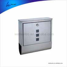 New product wall mounted stainless steel mailbox