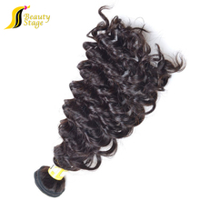 unprocessed hair weave 100% 6a natural color human hair extensions for black women