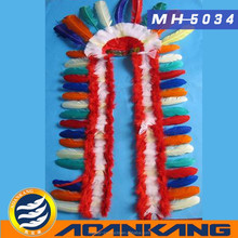 beautiful Indian feather headdress for adult ---China supplier