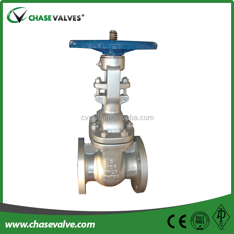 API 600 standard carbon steel a216 wcb bolted bonnet rising stem gate valve