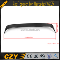 JC Style Carbon Fiber W205 Rear Roof Spoiler for Mercedes W205