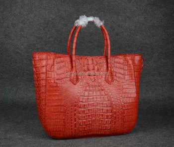 Genuine Crocodile tote bag_caiman crocodile bag_brigten colors croco bag_real croco handbag