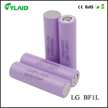 The newest LG 18650 Battery LG F1L 18650 High Capacity Battery 3.7V lithium 18650 3350mah 10A for vape mods box mod