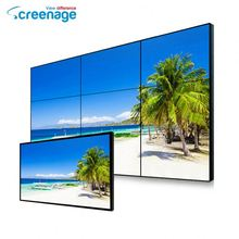 Full Color Lcd Video Walls Tube Chip Color 3 X 3 55 Inch 1080P Super Narrow