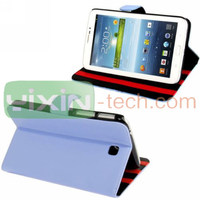 P3200 Stand Leather Case ,For Samsung Galaxy Tab 3 7.0 flip cover case