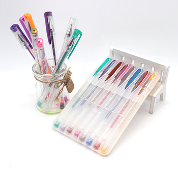 Office and school promotion  10 pieces  artist gel pen set with  case