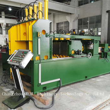 Automatic transformer radiator tank fin forming machine