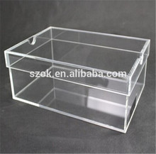 Made in china transparent acrylic shoe box for adidas
