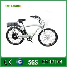 TOP E-cycle 2015 powerful electric dirt beach cruiser bike for adults