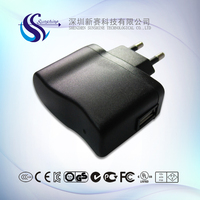 2016 best selling 5V 1A 6W EK plug charger for Android cellphone