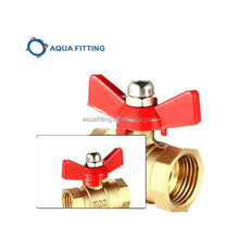 cw617n brass ball valve with butterfly handle