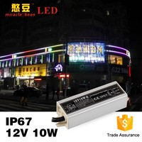 DC12V 24V High efficiency waterproof outdoor using led adapter 10w Outdoor power supply 12vdc for LED decoration