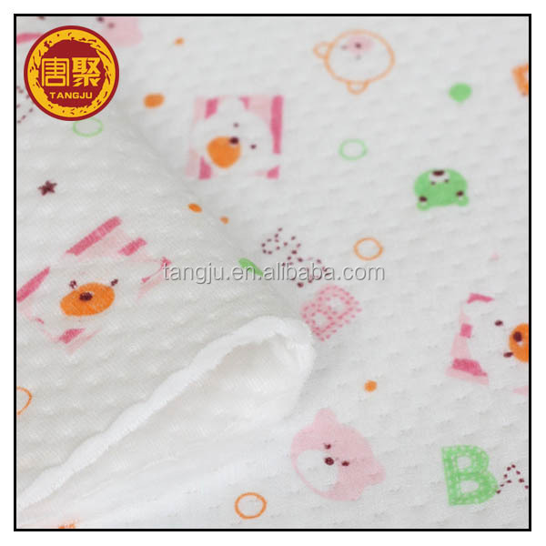 10 years vendor 100% cotton nurse printed fleece fabric for baby