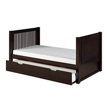 High Quality Fancy Single Wood Day Bed with Pull Out Trundle Bed